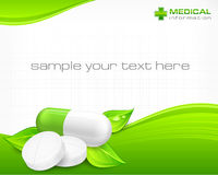 Pills & text Stock Images