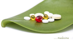 Pills therapy Royalty Free Stock Photo