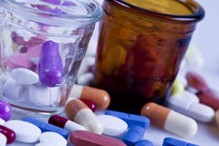 Pills to patients Royalty Free Stock Photography