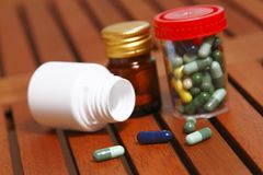 Pills to treat various diseases Royalty Free Stock Photo