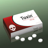 Pills Toxin Royalty Free Stock Photography