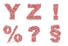 Pills utropprocent för alfabet Y som Z ifrågasätter, delar upp Royaltyfria Foton