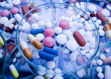 Pills variety Royalty Free Stock Photos