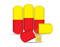Pills. The pills vector on white background Royalty Free Stock Image