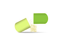 Pills. The pills vector on white background Royalty Free Stock Photography