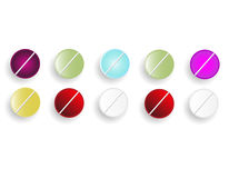 Pills. The pills vector on white background Royalty Free Stock Images