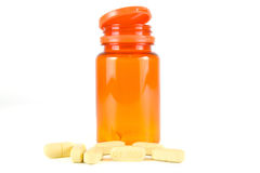 Pills of vitamin C Royalty Free Stock Images