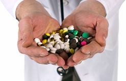 Pills and vitamins Stock Images