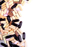 Pills, vitamins, or medicine Stock Photo