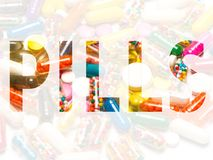 Pills in the symbol Royalty Free Stock Image