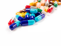 Pills on white background Stock Images