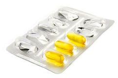 pillsvitaminer Arkivfoto