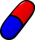 pillule de médecine ou illustration de vecteur de capsule Photo stock