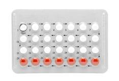 Pillules de contrôle des naissances Photo stock
