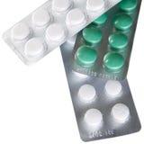 Pillules de médecine dans des cadres Photos libres de droits