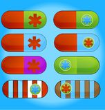 Pillules de médecine réglées Photo libre de droits