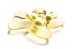 Pillules du supplément Omega-3 Photo stock