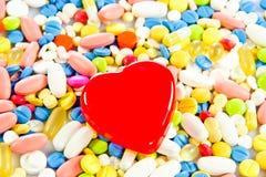 Pillules ensemble médical de capsule de santé Image stock