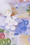 Pillules et argent Photo libre de droits