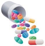 Pillules et capsules Photo stock