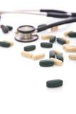 Pillules médicales pour le coeur Photos libres de droits