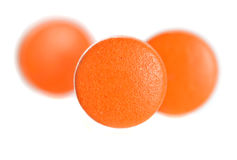 Pillules oranges Photo stock