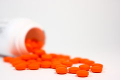 Pillules oranges Image stock