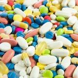 Pillules pharmacie réglée de drogue de capsule médicale de santé Photo libre de droits