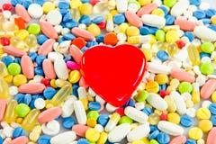 Pillules pharmacie réglée de drogue de capsule médicale de santé Photos stock
