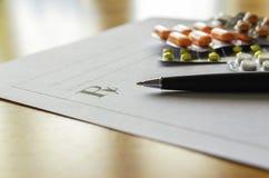 Pillules prescrites Image stock