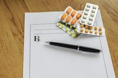 Pillules prescrites Images libres de droits