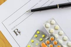 Pillules prescrites Images stock