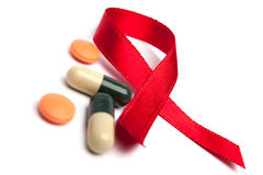 Pillules sur HIV Photo stock