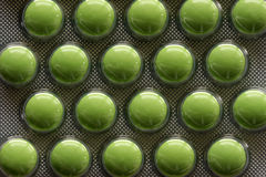 Pillules vertes Photos libres de droits