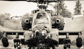 Piloci w latającym helikopterze Obrazy Stock