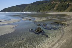 Pilolcura beach in Southern Chile Royalty Free Stock Images