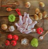 Pilon avec des pommes de terre, des oignons et des poivrons verts photos libres de droits