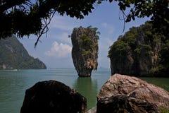 Pilon de James Bond Island en Tailandia fotografía de archivo