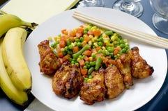 Pilon de poulet épicé de barbecue Image libre de droits