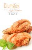 Pilon de poulet frit Images libres de droits