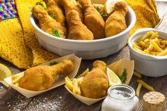Pilon de poulet frit Image stock