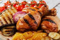 Pilon de poulet grillé Images libres de droits