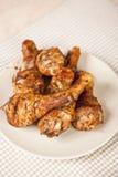 Pilon de poulet grillé délicieux Photos stock