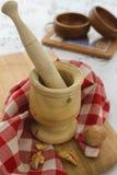 Pilon et mortier photo stock