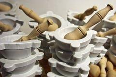 Pilon et mortier Photo libre de droits