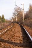 pilon koszowa elektryczna linia kolejowa obrazy stock