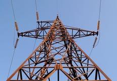 Pilone ad alta tensione della trasmissione di corrente elettrica Fotografia Stock Libera da Diritti
