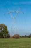 Pilone ad alta tensione di elettricità Fotografia Stock