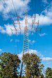 Pilone ad alta tensione di elettricità Fotografie Stock Libere da Diritti