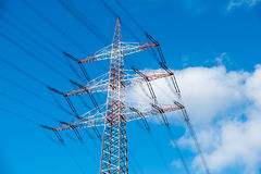 Pilone ad alta tensione di elettricità Fotografia Stock Libera da Diritti